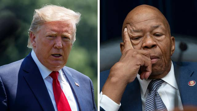 President Trump hammers Rep. Elijah Cummings, equates living in Baltimore with living in hell