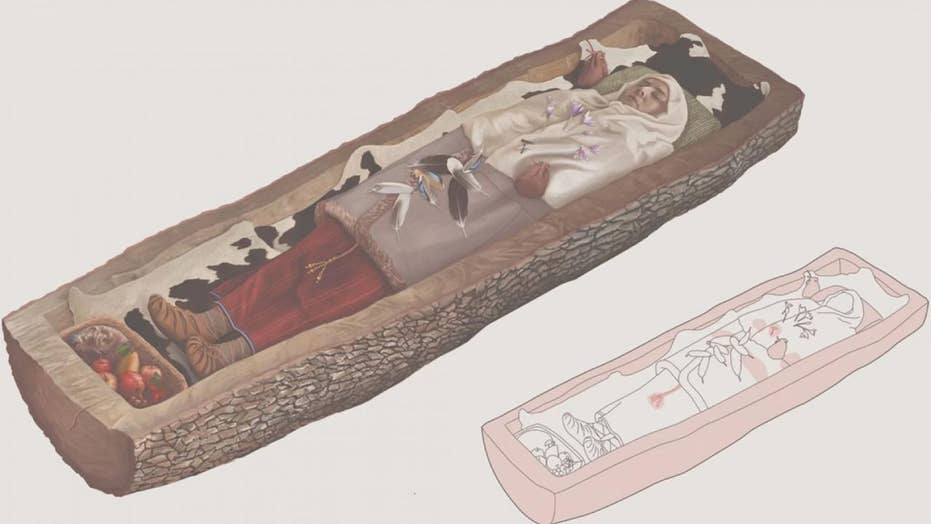 Celtic female who was buried in approximately 200 B.C. was buried in a tree coffin