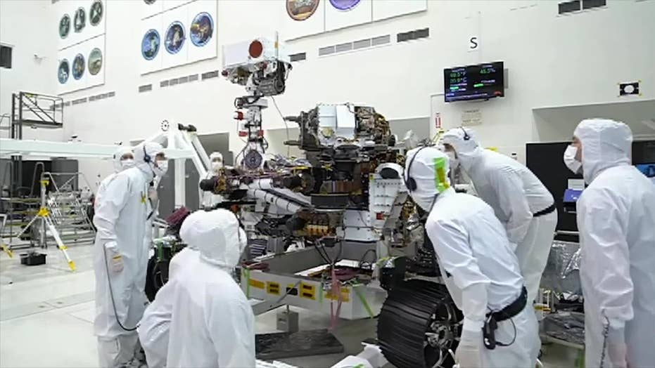 NASA's 2020 Mars rover preforms 'bicep curl' to test its robotic arm
