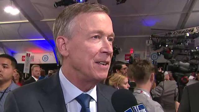 John Hickenlooper says moderate candidates didn't get as much air time as progressives at debate