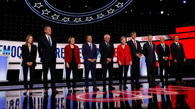 How did voters react to night one of the second Democratic presidential debate?