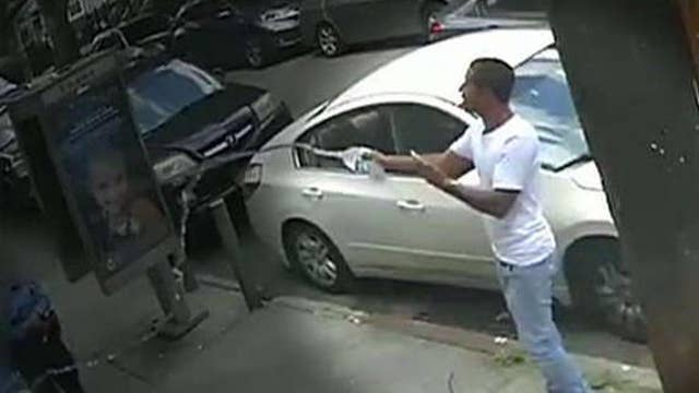 NYPD releases new video of another water-dousing incident, asks for help identifying suspect