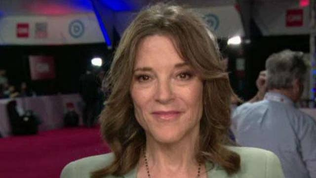 Marianne Williamson reacts to Don Jr.'s praise