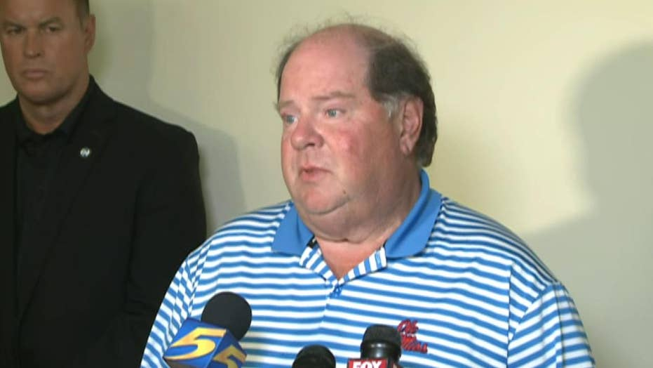 Officials brief the press following deadly shooting at a Mississippi Walmart