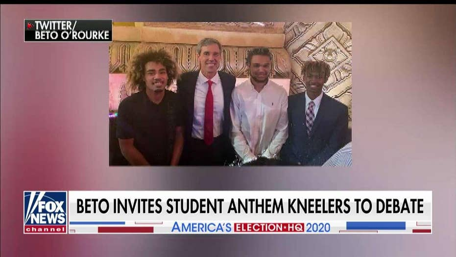 Beto O'Rourke invites high school football players who knelt for anthem to Dem debate