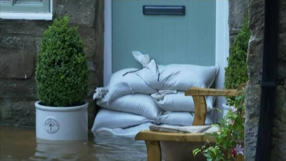 Raw video: Flash floods hit parts of north England