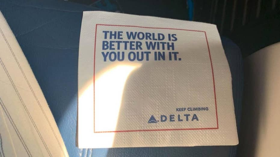 Delta napkin with 'strange wording' prompts confusion on Twitter