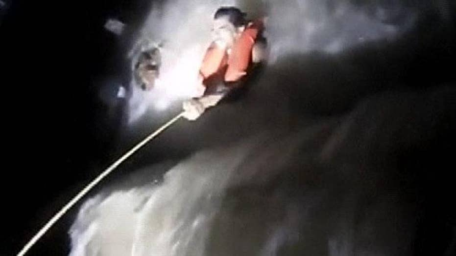 River rescue caught on Iowa police body camera