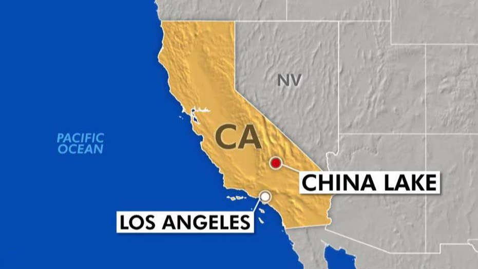 Navy fighter jet crashes near China Lake, California