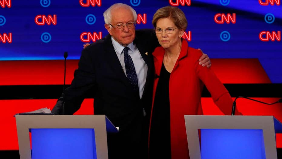 Moderate Democratic presidential hopefuls target Sanders, Warren over far-left policies