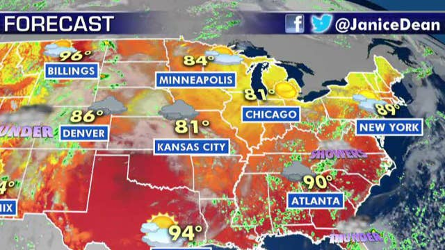 National forecast for Thursday, August 1