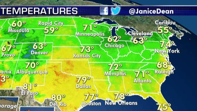 National forecast for Friday, August 2: Showers and thunderstorms for the Plains states