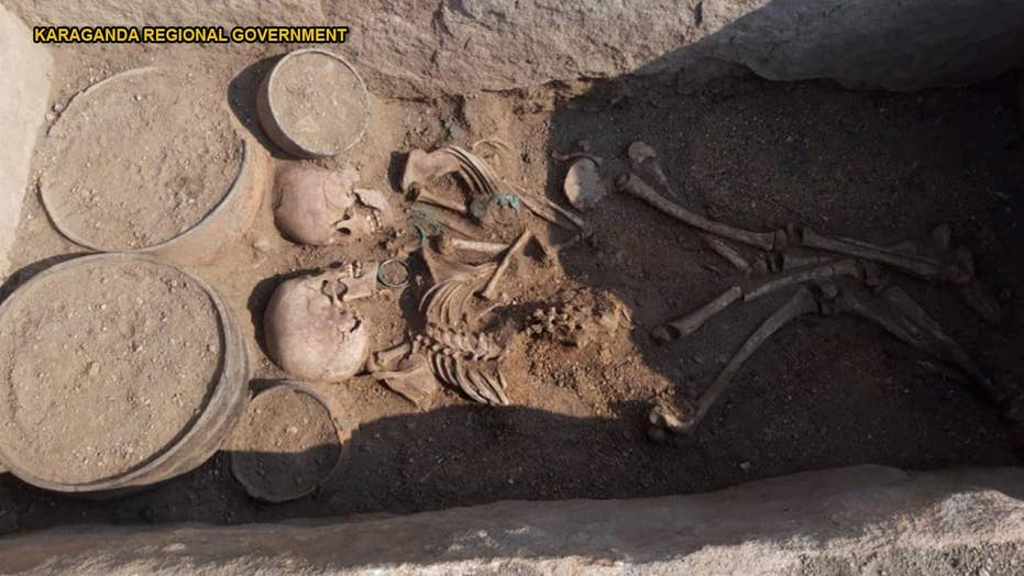 4,000-year-old grave of boy and girl has one unusual feature