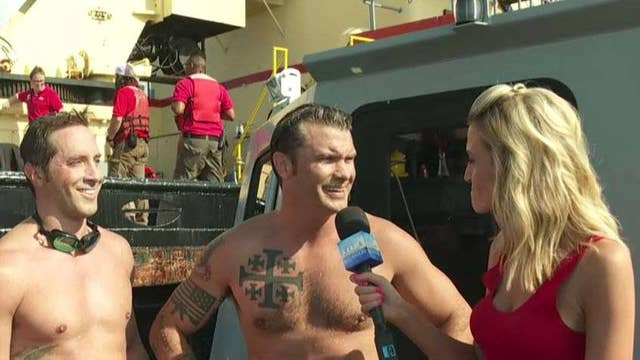 Pete Hegseth, Navy SEALS complete second leg of swim across the Hudson River to support veterans