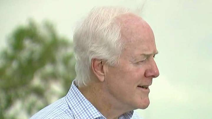 Texas Senator John Cornyn reacts to the mass shooting in El Paso, Texas