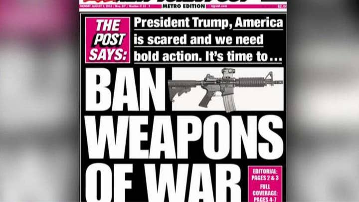 The New York Post urges President Trump to 'ban weapons of war'