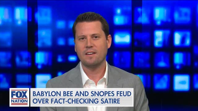 Gutfeld talks to CEO of conservative satirical website about repeated fact-checks by Snopes