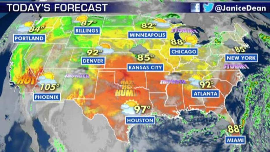 National forecast for Wednesday, August 7
