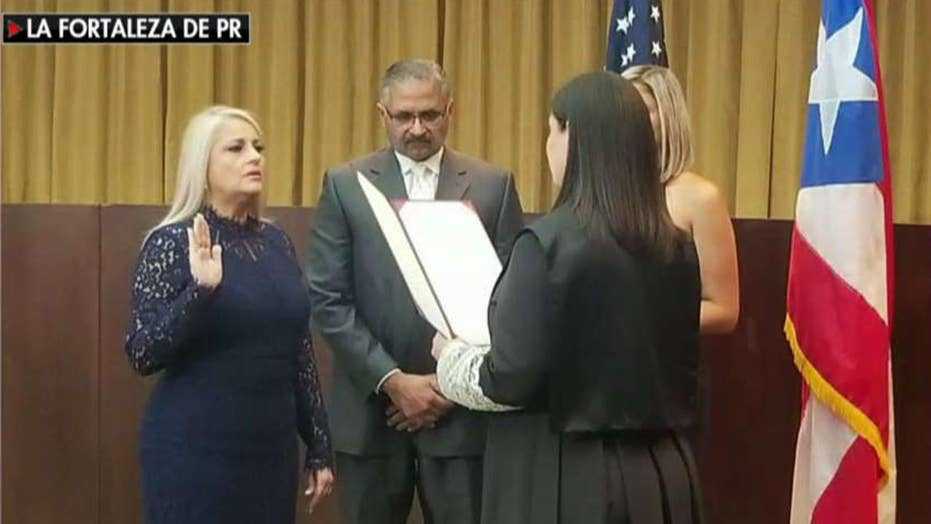 Puerto Rico swears in third governor in a week