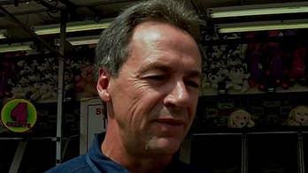 Gov. Steve Bullock campaigns at the Iowa State Fair