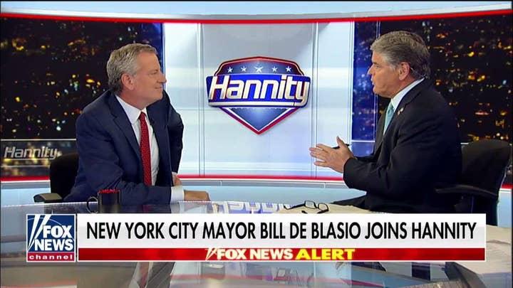 Bill de Blasio talks illegal immigration, health care for undocumented New York residents