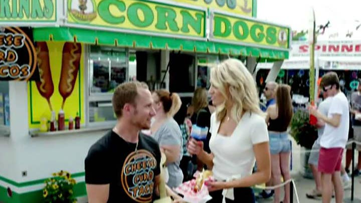 Carley Shimkus visits the Wisconsin State Fair