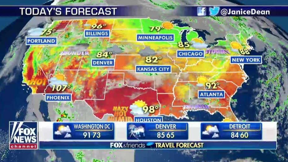 National forecast for Thursday, August 8