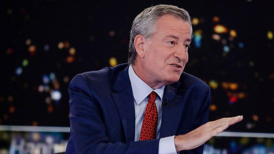 NYC Mayor Bill de Blasio defends the Green New Deal
