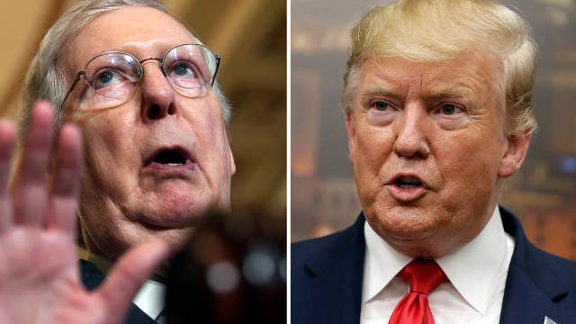 Trump campaign stands with McConnell after Twitter locks account over protest video
