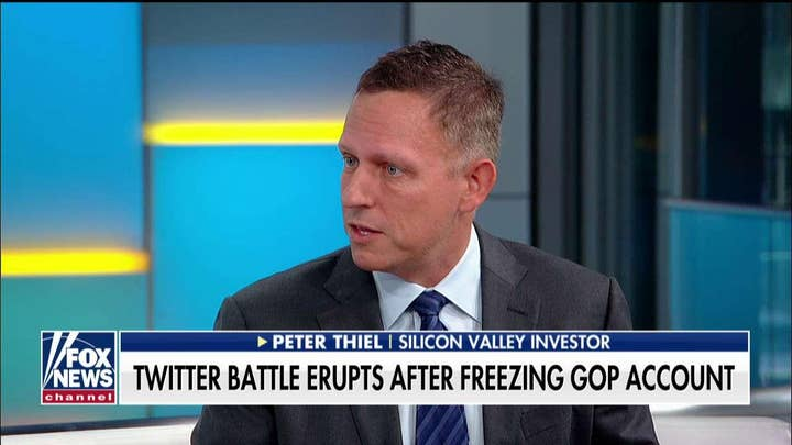 Peter Thiel on alleged bias by Twitter in freezing Mitch McConnell's re-election account.