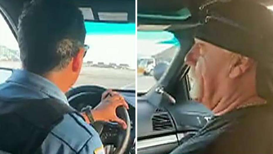 Police officer in hot water for driving Hulk Hogan at airport in squad car