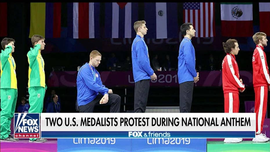 Hegseth, Crenshaw slam U.S. fencer for anthem protest