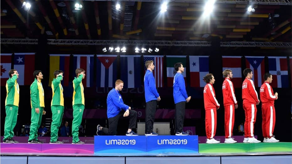 US fencer takes knee at Pan Am Games in protest