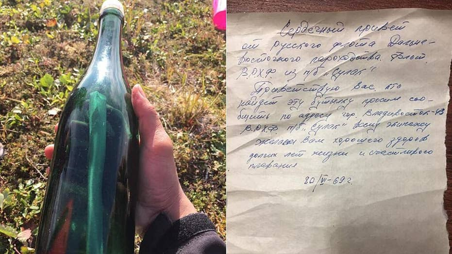 A 50-year-old Soviet message in a bottle has washed ashore in Alaska
