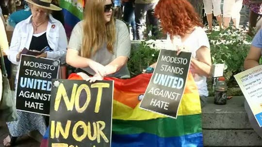 'Straight Pride' group unfazed after counter-protesters outnumber them at rally