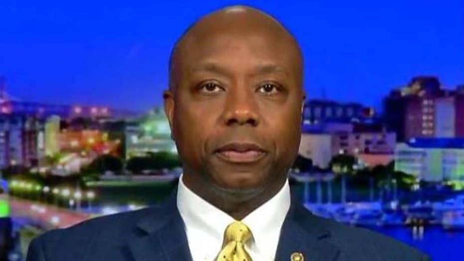 Sen. Scott hits back at Democrats calling Trump racist