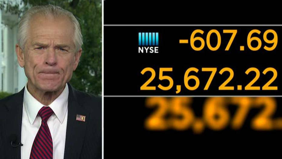 White House blames interest rate environment for stock market slide