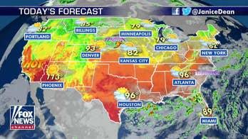 National forecast for Thursday, August 15