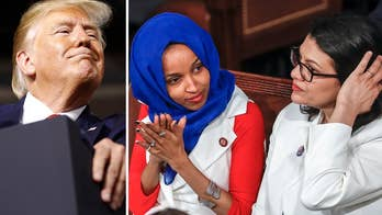 Trump pushes Democrats to defend Rep. Omar and Rep. Tlaib over Israel feud