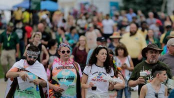 50th Anniversary of Woodstock music festival draws thousands