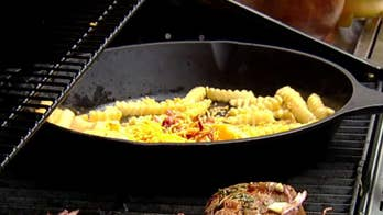 Steve Doocy grills up steaks with fully loaded cheese fries
