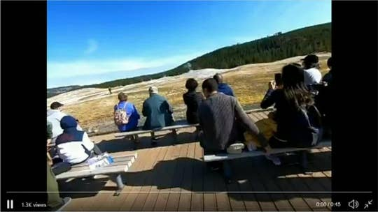 Yellowstone tourist walks dangerously close to Old Faithful, allegedly flips off disapproving crowd