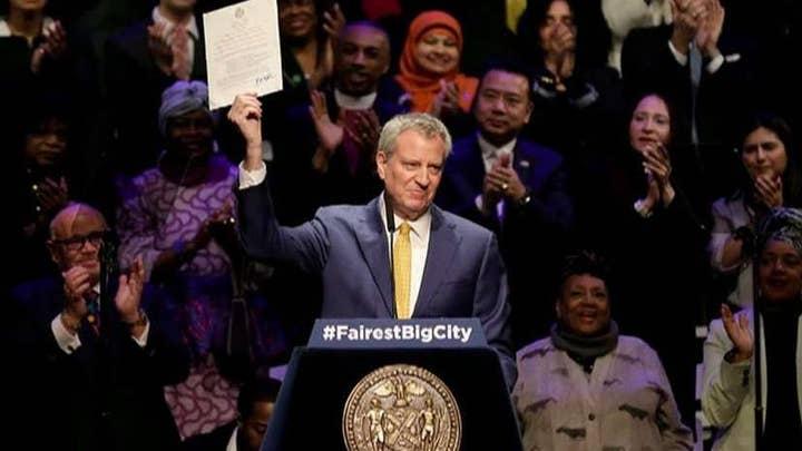 De Blasio putting NYC cops in danger for his own political career, Dan Bongino says