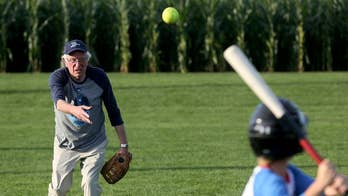 Sanders campaign shows softer side with softball game in Iowa