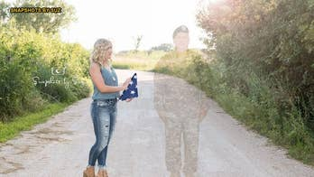 Nebraska teen honors father killed in Afghanistan with 'angel' graduation photos