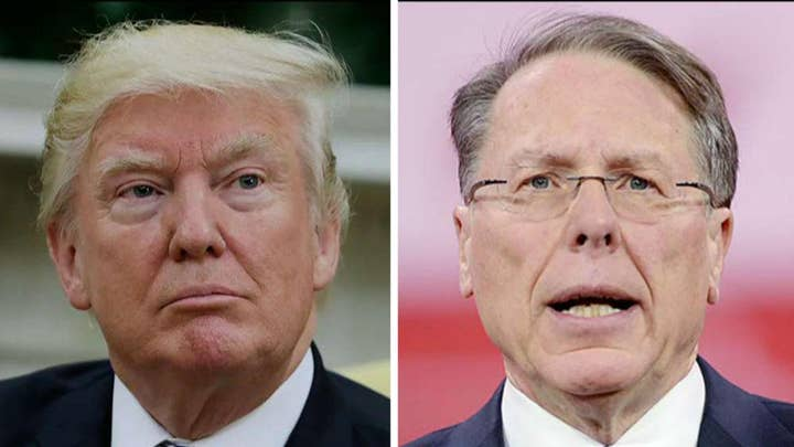 President Trump tells NRA boss that universal background checks are dead