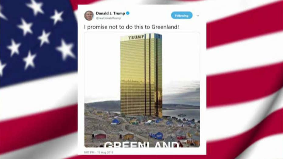 President Trump tweets image of new Trump tower on the shores of Greenland