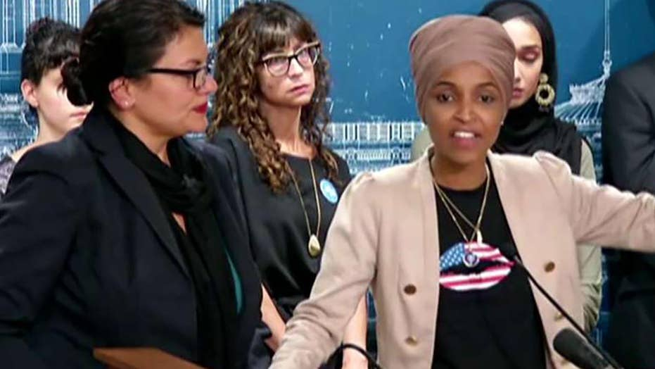 Reps. Rashida Tlaib, l., and Illan Omar hint at cutting aid to Israel