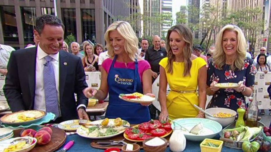 Ainsley Earhardt's grilled flounder, grits and corn salad