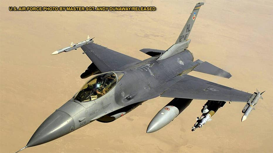 1980 Air Force F-16 fighter jet listed for sale online in Florida